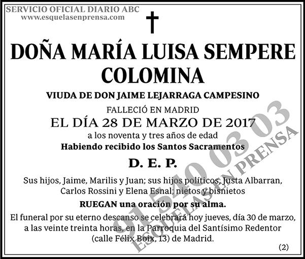 María Luisa Sempere Colomina